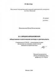 Иванишкина Ю.В. Брешко-Брешковская Е.К. Общественно-политические взгляды и  ...